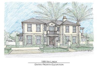 Palm Beach Single Family Home For Sale: 198 Via Linda