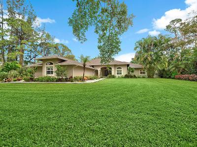 Jupiter Single Family Home For Sale: 10371 Trailwood Circle
