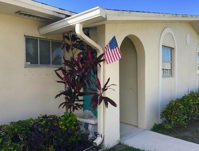 West Palm Beach Single Family Home For Sale: 2970 Ashley Drive E #C