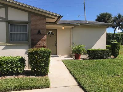 West Palm Beach Single Family Home For Sale: 2630 Barkley Drive E #A