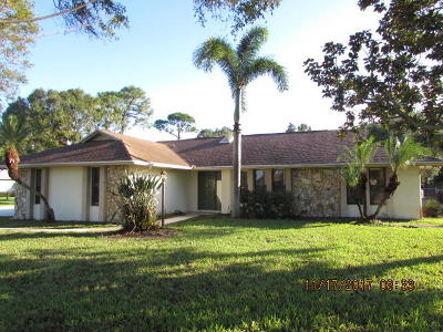 Port Saint Lucie Single Family Home For Sale: 2425 SE Delano Road