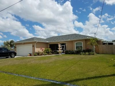 Port Saint Lucie Single Family Home For Sale: 5842 NW Bates Avenue