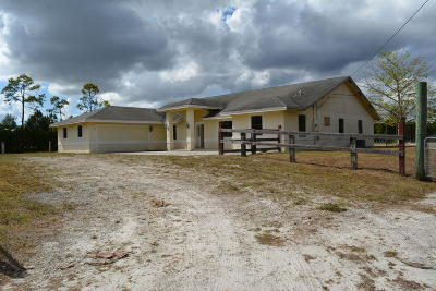 Loxahatchee Single Family Home For Sale: 15703 Orange Boulevard