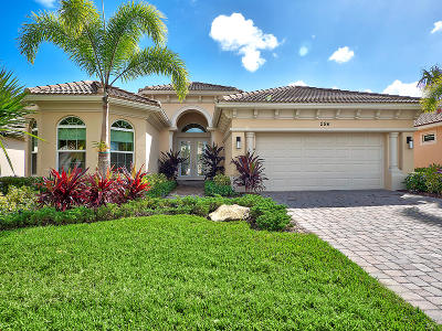 Jupiter Country Club Single Family Home For Sale: 296 Carina Drive