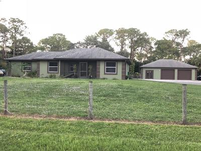 Loxahatchee Single Family Home For Sale: 16855 70th Street