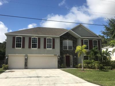 Port Saint Lucie Single Family Home For Sale: 4018 SW Canrady Street