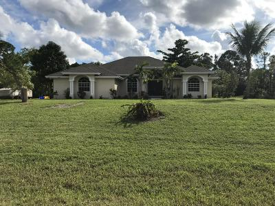 West Palm Beach Single Family Home For Sale: 12880 72nd Court