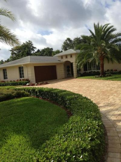 Palm Beach Gardens Single Family Home For Sale: 2512 Oak Drive
