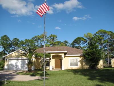 Royal Palm Beach Single Family Home For Sale: 6320 Coconut Boulevard