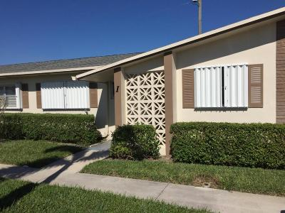 West Palm Beach Single Family Home For Sale: 2522 E Emory Drive E #I