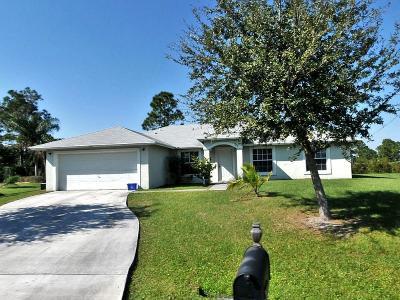 Port Saint Lucie, Saint Lucie West Single Family Home For Sale: 5868 NW Iota Court