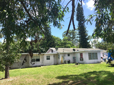 west palm Single Family Home For Sale: 4251 14th Road S S