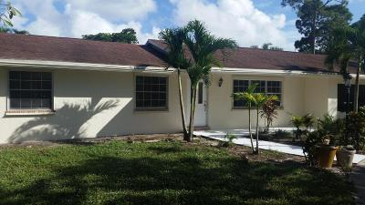 Lake Worth Single Family Home For Sale: 3676 Suncrest Road