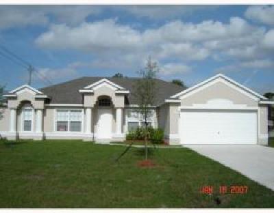 Port Saint Lucie, Saint Lucie West Single Family Home For Sale: 785 SW Arkansas Terrace