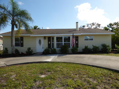 Hobe Sound Single Family Home Contingent: 7268 SE Bruce Terrace