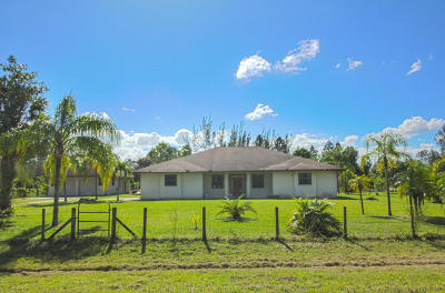 West Palm Beach Single Family Home For Sale: 7260 140th Avenue