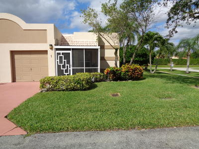 Boca Raton Single Family Home For Sale: 9275 Flynn Circle #1