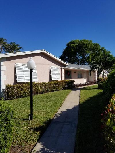Delray Beach Single Family Home For Sale: 2415 Lowson Boulevard #B