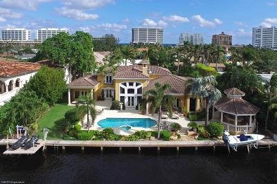 Broward County, Palm Beach County Single Family Home For Sale: 2101 Spanish River Road