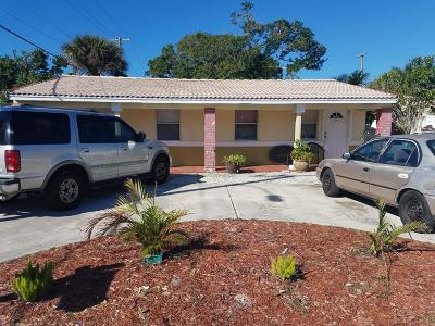 Lake Worth Multi Family Home For Sale: 829 S D Street #829 & 83