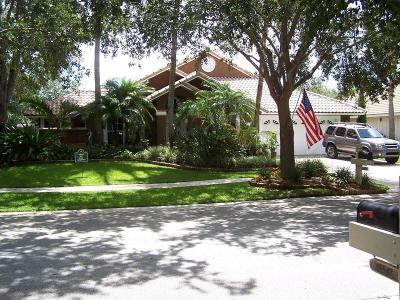 Jupiter Single Family Home For Sale: 18528 Lake Bend Drive
