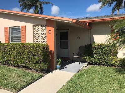 West Palm Beach Single Family Home For Sale: 2747 Dudley Drive E #C