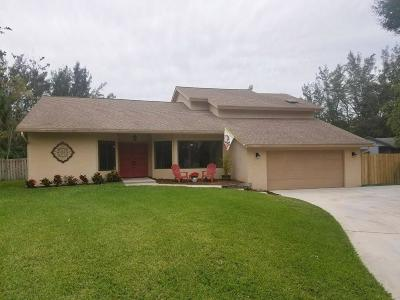 West Palm Beach Single Family Home For Sale: 1633 Feather Trail