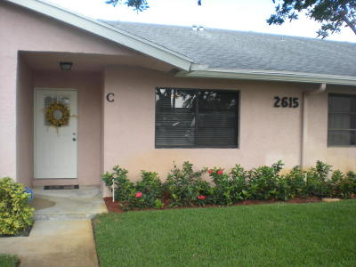 Delray Beach Single Family Home For Sale: 2615 Lowson Boulevard #C