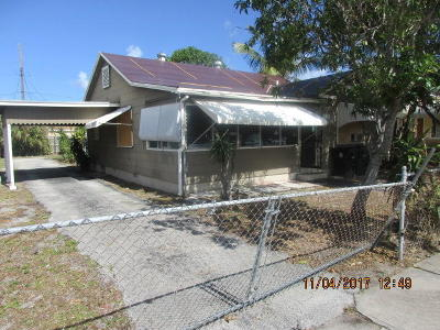 Lake Worth Single Family Home For Sale: 520 20th Avenue