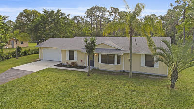 Jupiter Single Family Home For Sale: 10456 151st Lane