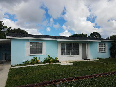 West Palm Beach Single Family Home For Sale: 4765 Spingfield Drive