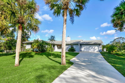 Jupiter Single Family Home For Sale: 15724 95th Avenue