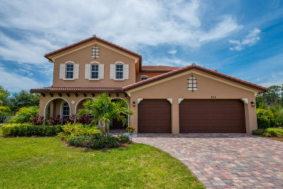 Jupiter Single Family Home For Sale: 431 Rudder Cay Way