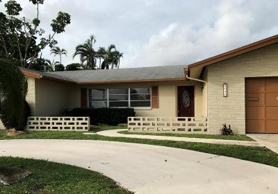 Boca Raton Single Family Home For Sale: 1385 W Camino Real