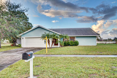 West Palm Beach Single Family Home For Sale: 886 S Patrick Circle