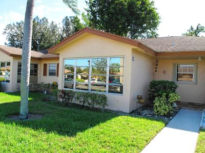Delray Beach Single Family Home For Sale: 14420 Canalview Drive #C
