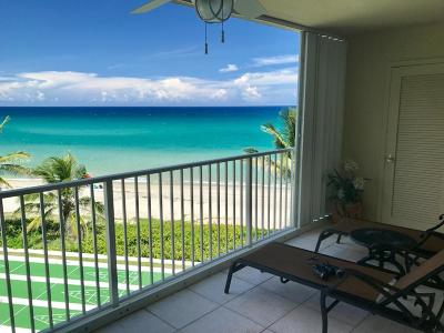 Highland Beach Condo For Sale: 3101 S Ocean Boulevard #402