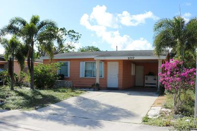 Lake Worth Single Family Home For Sale: 1017 S C Street
