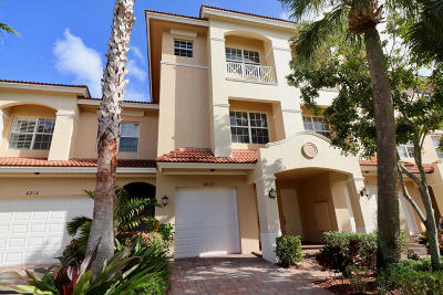 Palm Beach Gardens Townhouse For Sale: 4812 Sawgrass Breeze Drive