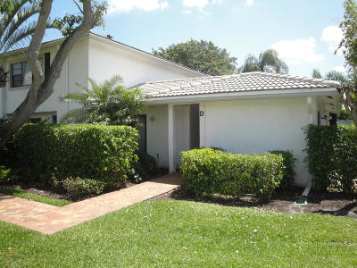 Boynton Beach Single Family Home For Sale: 22 Stratford Drive #D