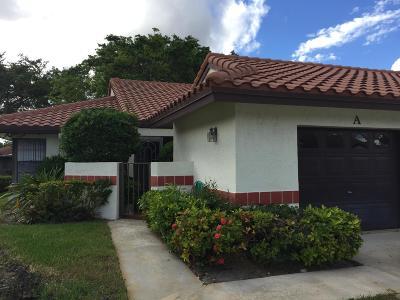Boynton Beach Single Family Home For Sale: 10975 Dolphin Palm Court #A