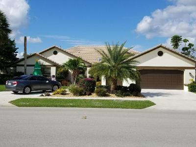 Boca Raton Single Family Home For Sale: 10876 Boca Woods Lane