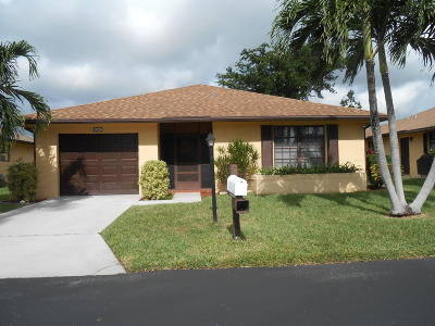 Lake Worth Single Family Home For Sale: 6059 Baywood Lane