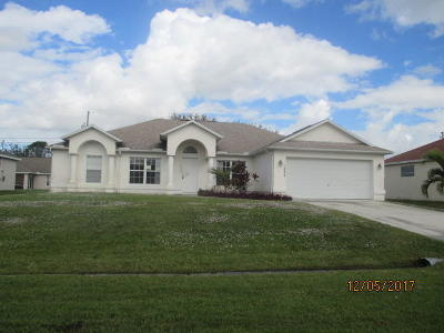 Port Saint Lucie Single Family Home Contingent: 1033 SW Eckard