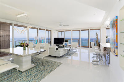 Highland Beach Condo For Sale: 3505 S Ocean Boulevard #10-N