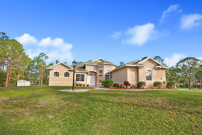 Loxahatchee Single Family Home For Sale: 17185 72nd Road