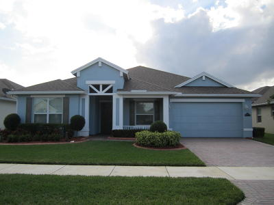 Port Saint Lucie Single Family Home For Sale: 10443 SW Waterway Lane