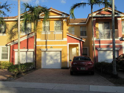 Royal Palm Beach Townhouse For Sale: 2238 Shoma Drive