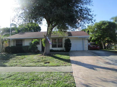 Lake Worth Single Family Home For Sale: 6533 Athena Drive