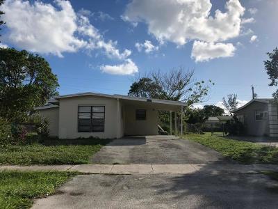 Boynton Beach FL Single Family Home For Sale: $164,900